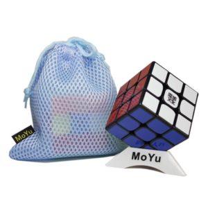OJIN MoYu WEILONG GTS 3x3x3 Speed Cube Puzzle Sticker Rompicapo Twist Puzzle Toys con Un Sacchetto del cubo e Un cubo treppiede (Nero)