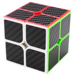 Puzzle Cube 2x2x2 Coolzon® Magico Cubo con Adesivo in Fibra di Carbonio Nuovo Velocità