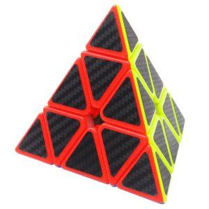 3x3 Triangolo Puzzle Cube Coolzon® Pyraminx Pyramid Magico Cubo con Adesivo in Fibra di Carbonio Nuovo Velocità
