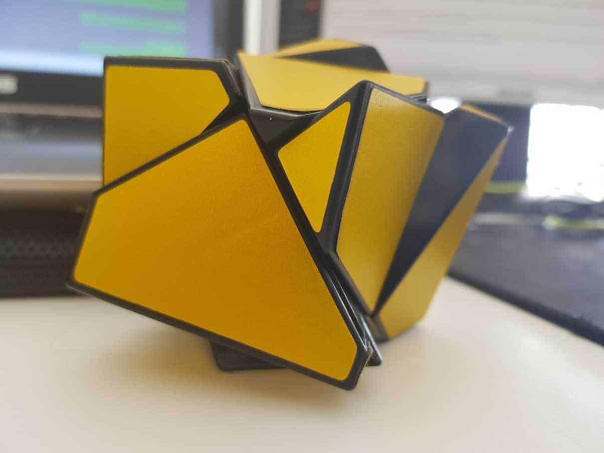 Fangshi 2x2x2 Ghost Cube scrambled