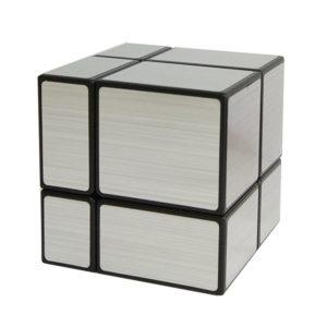 HJXDtech - Giocattoli educativi Shengshou irregolare 2x2x2 Mirror Magic Metti alla cubo 3D Twist Puzzle cubo - argento