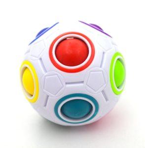 Puzzle Yongjun cubo magico arcobaleno sfera Istruzione sfera cubo per Playtime Smart Kids'