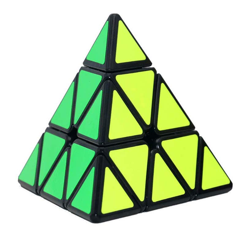 NiceButy Pyramid Speed Cube Triangle Cube Puzzle (Black)